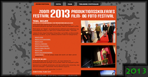 Zoom Festival 2013 Website